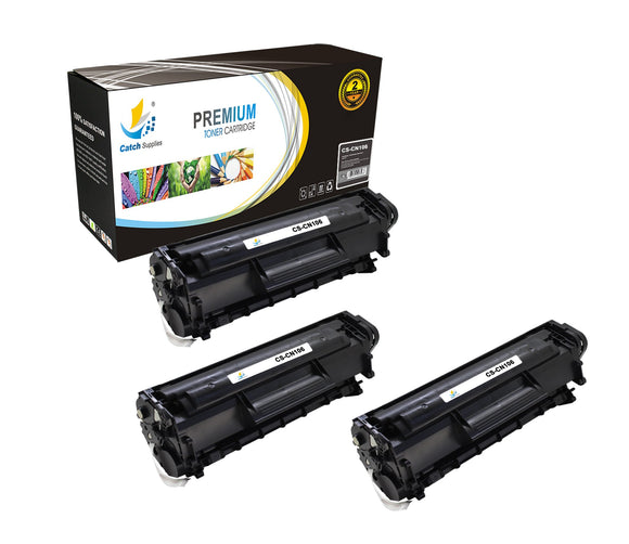 Catch Supplies Replacement Canon 0264B001AA Standard Yield Laser Printer Toner Cartridges - Three Pack