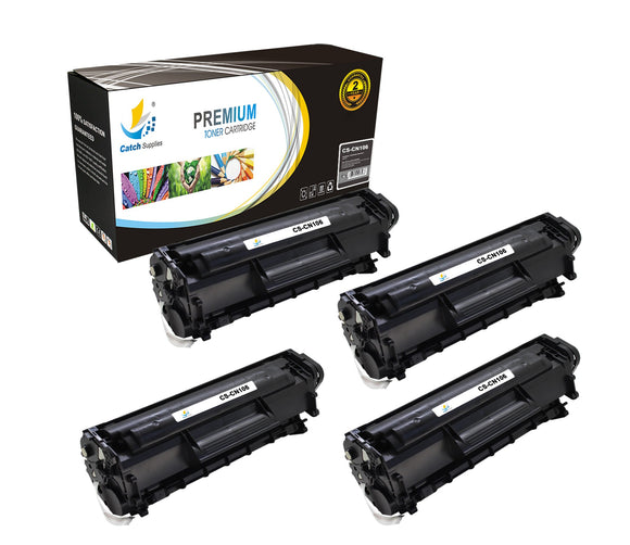Catch Supplies Replacement Canon 0264B001AA Standard Yield Laser Printer Toner Cartridges - Four Pack