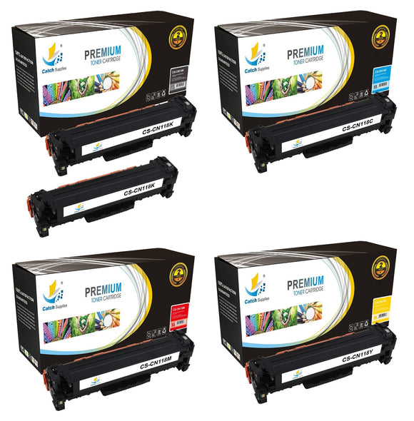 Catch Supplies Replacement Canon 2662B001AA,2661B001AA,2660B001AA,2659B001AA Standard Yield Laser Printer Toner Cartridges - Five Pack