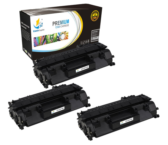 Catch Supplies Replacement Canon 3479B001AA Standard Yield Laser Printer Toner Cartridges - Three Pack