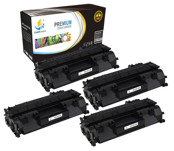 Catch Supplies Replacement Canon 3479B001AA Standard Yield Laser Printer Toner Cartridges - Four Pack