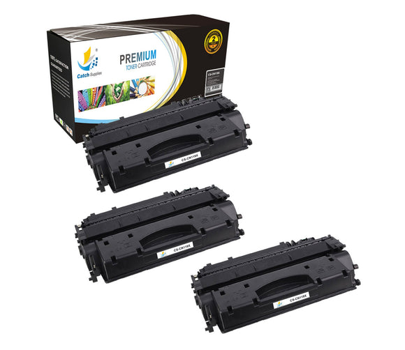 Catch Supplies Replacement Canon 3480B001AA Standard Yield Laser Printer Toner Cartridges - Three Pack
