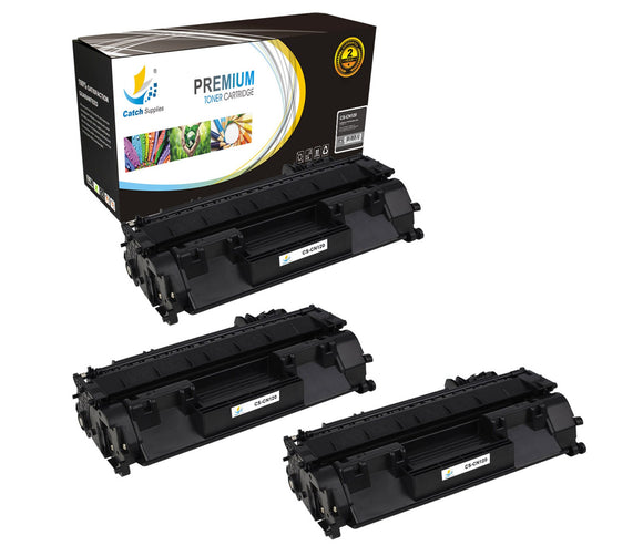 Catch Supplies Replacement Canon 2617B001AA Standard Yield Laser Printer Toner Cartridges - Three Pack