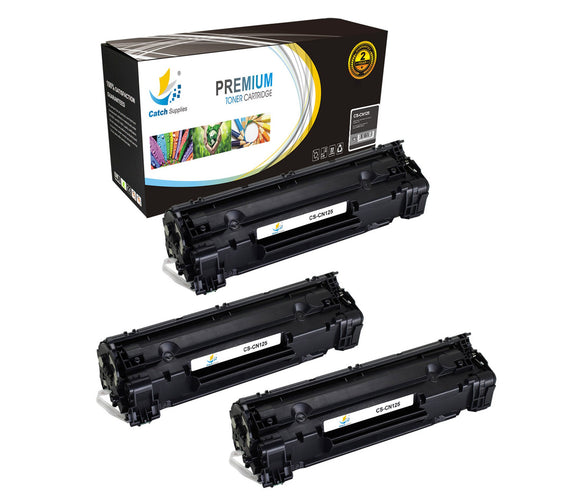 Catch Supplies Replacement Canon 3484B001AA Standard Yield Laser Printer Toner Cartridges - Three Pack