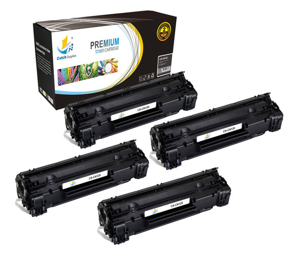 Catch Supplies Replacement Canon 3484B001AA Standard Yield Laser Printer Toner Cartridges - Four Pack