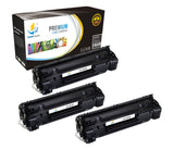 Catch Supplies Replacement Canon 3483B001AA Standard Yield Laser Printer Toner Cartridges - Three Pack