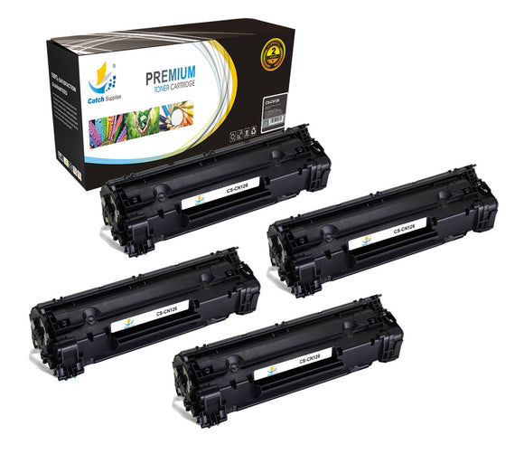 Catch Supplies Replacement Canon 3483B001AA Standard Yield Laser Printer Toner Cartridges - Four Pack