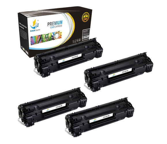 Catch Supplies Replacement Canon 3500B001AA Standard Yield Laser Printer Toner Cartridges - Four Pack