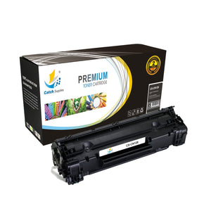 Catch Supplies Replacement 128 Black Toner Cartridge