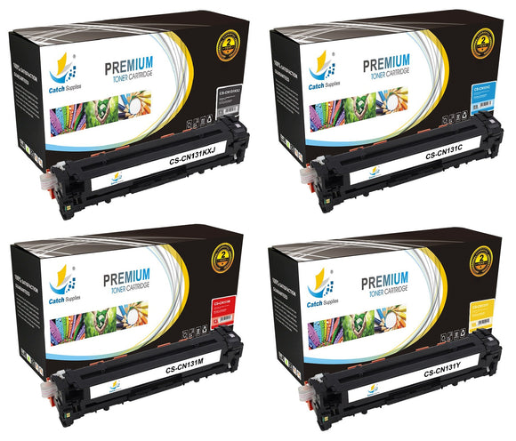Catch Supplies High Yield Replacement 131 Toner Cartridge 4 Pack Set