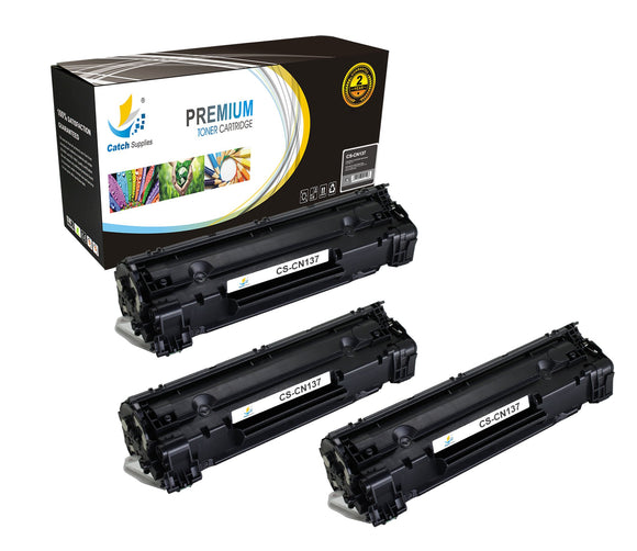 Catch Supplies Replacement 137 Black Toner Cartridge 3 Pack