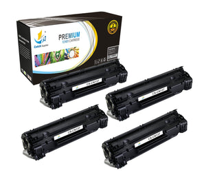 Catch Supplies Replacement 137 Black Toner Cartridge 4 Pack