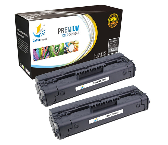 Catch Supplies Replacement FX3 Black Toner Cartridge 2 Pack