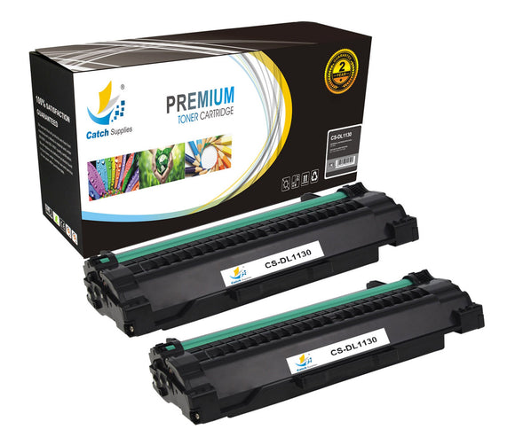 Catch Supplies Replacement 1130 Black Toner Cartridge 2 Pack