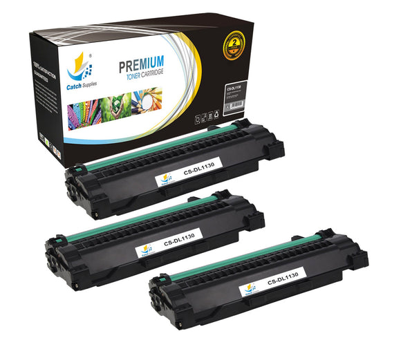 Catch Supplies Replacement 1130 Black Toner Cartridge 3 Pack