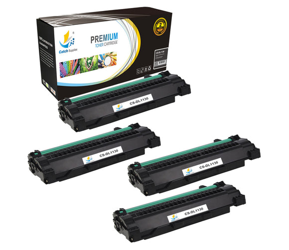 Catch Supplies Replacement Dell 330-9523 Standard Yield Laser Printer Toner Cartridges - Four Pack