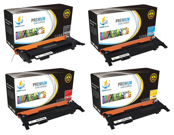 Catch Supplies Replacement Dell 330-3578,330-3581,330-3580,330-3579 Standard Yield Laser Printer Toner Cartridges - Four Pack
