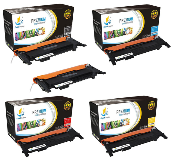 Catch Supplies Replacement Dell 330-3578,330-3581,330-3580,330-3579 Standard Yield Laser Printer Toner Cartridges - Five Pack