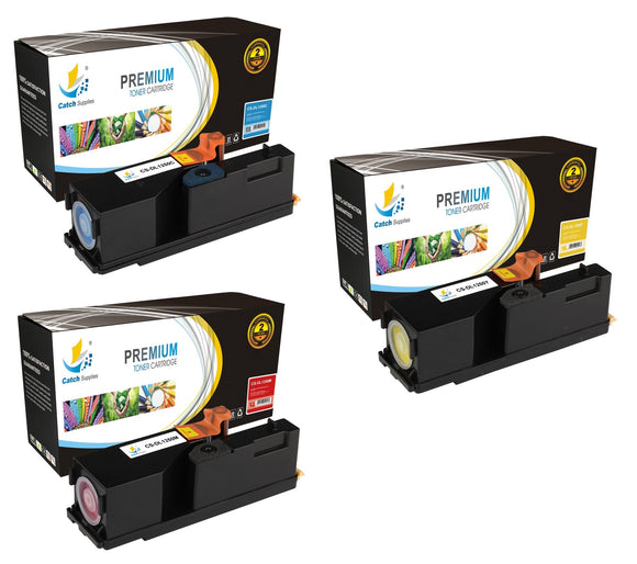 Catch Supplies Replacement 1250 Toner Cartridge 3 Pack Color Set