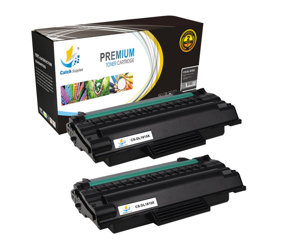 Catch Supplies Replacement 1815 Black Toner Cartridge 2 Pack