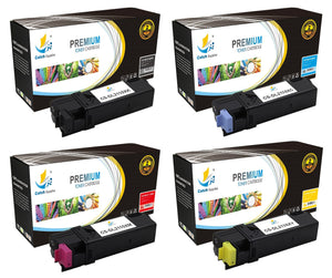 Catch Supplies Replacement Dell 331-0719,331-0716,331-0717,331-0718 Standard Yield Laser Printer Toner Cartridges - Four Pack
