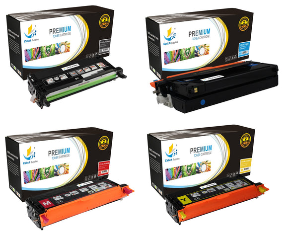 Catch Supplies Replacement Dell 330-1198,330-1199,330-1200,330-1204 Standard Yield Laser Printer Toner Cartridges - Four Pack