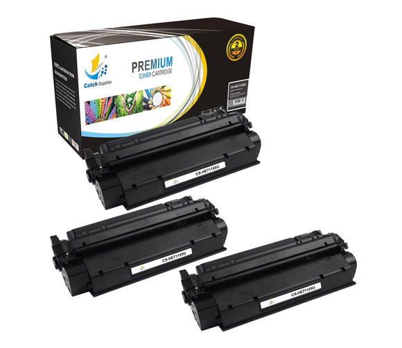 Catch Supplies Replacement HP C7115X High Yield Black Toner Cartridge Laser Printer Toner Cartridges - Three Pack