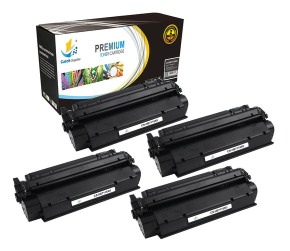 Catch Supplies Replacement HP C7115X High Yield Black Toner Cartridge Laser Printer Toner Cartridges - Four Pack