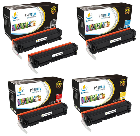 Catch Supplies Replacement HP CF400A,CF401A,CF402A,CF403A Standard Yield Laser Printer Toner Cartridges - Five Pack