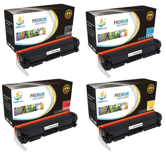 Catch Supplies Replacement HP CF400X,CF401X,CF402X,CF403X High Yield Toner Cartridges Laser Printer Toner Cartridges - Four Pack