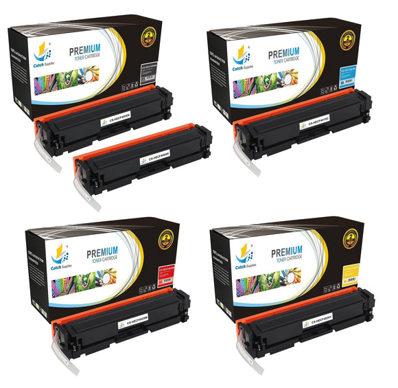 Catch Supplies Replacement HP CF400X,CF401X,CF402X,CF403X High Yield Toner Cartridges Laser Printer Toner Cartridges - Five Pack
