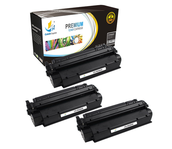 Catch Supplies Replacement HP Q2624X High Yield Black Toner Cartridge Laser Printer Toner Cartridges - Three Pack