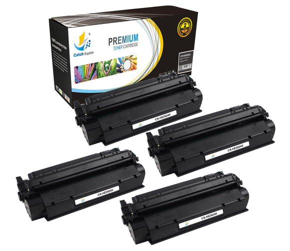 Catch Supplies Replacement HP Q2624X High Yield Black Toner Cartridge Laser Printer Toner Cartridges - Four Pack