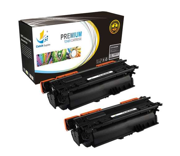 Catch Supplies High Yield Replacement CE264X – 646X Black Toner Cartridge 2 Pack Set