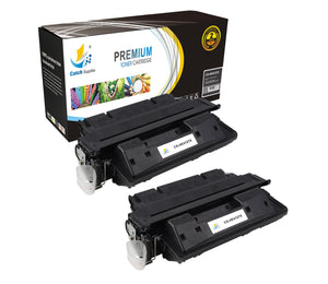 Catch Supplies Replacement HP C4127X High Yield Black Toner Cartridge Laser Printer Toner Cartridges - Two Pack