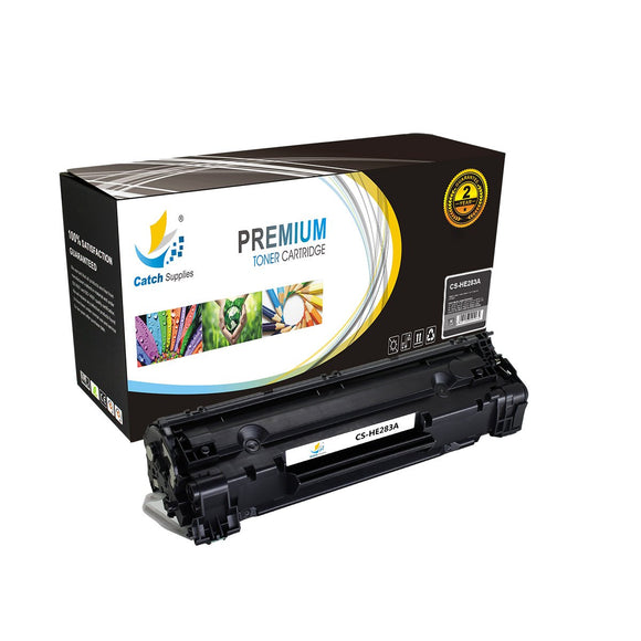 Catch Supplies Replacement CF283A Black Toner Cartridge