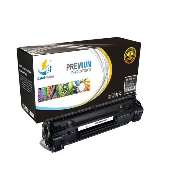 Catch Supplies JUMBO Yield Replacement CF283A Black Toner Cartridge
