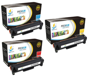 Catch Supplies Replacement HP CF381A,CF382A,CF383A Standard Yield Laser Printer Toner Cartridges - Three Pack
