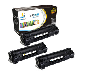 Catch Supplies Replacement HP CB435X High Yield Black Toner Cartridge Laser Printer Toner Cartridges - Three Pack