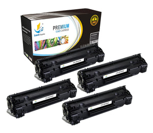 Catch Supplies Replacement HP CB435X High Yield Black Toner Cartridge Laser Printer Toner Cartridges - Four Pack