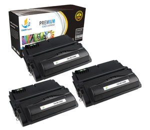 Catch Supplies Replacement Q1338A Black Toner Cartridge 3 Pack