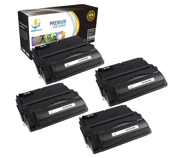 Catch Supplies Replacement HP Q1338A Standard Yield Laser Printer Toner Cartridges - Four Pack
