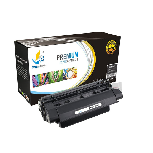 Catch Supplies Replacement CE390A Black Toner Cartridge