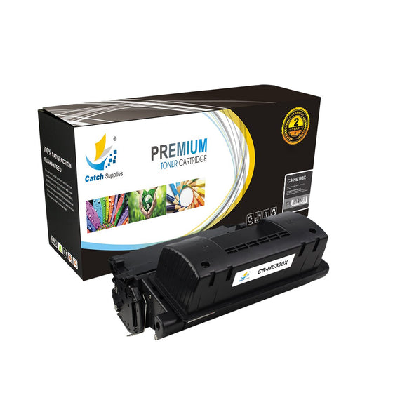 Catch Supplies Replacement CE390X Black Toner Cartridge