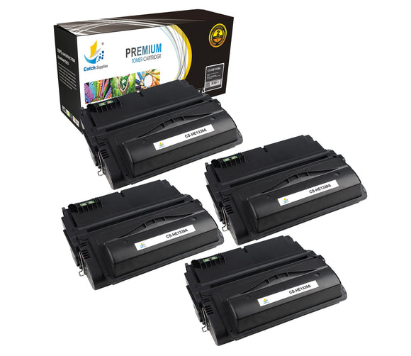 Catch Supplies Replacement HP Q1339A Standard Yield Laser Printer Toner Cartridges - Four Pack