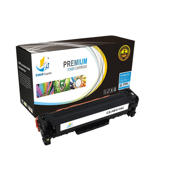 Catch Supplies Replacement HP CE411A Standard Yield Toner Cartridge