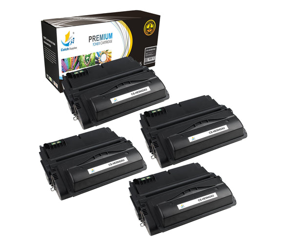 Catch Supplies Replacement HP Q5942A Standard Yield Laser Printer Toner Cartridges - Four Pack