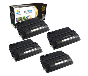 Catch Supplies Replacement HP Q5942X High Yield Black Toner Cartridge Laser Printer Toner Cartridges - Four Pack