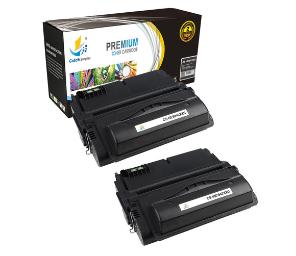 Catch Supplies JUMBO Yield Replacement Q5942X Black Toner Cartridge 2 Pack