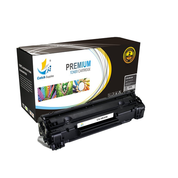 Catch Supplies Replacement CB436A Black Toner Cartridge